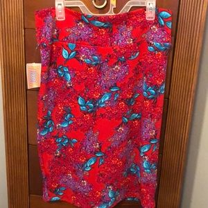 Brightly colored pencil lulaRoe skirt!!